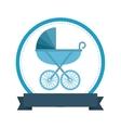 baby card cute frame vector image