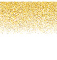 background with gold glitter confetti faling gold vector image