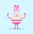 bunny character design vector image vector image