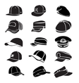 cap set isolated on white hat icon baseball rap
