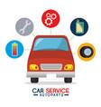 car service autoparts concept vector image