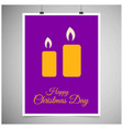 christmas card with candles vector image