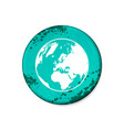 circle nameplate with world map vector image