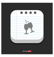 cocktail drink icon gray icon on notepad style vector image