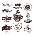 coffee typography inspirational quote vector image