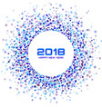 colorful bright new year 2017 frame background vector image vector image