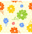 colorful flowers seamless background vector image vector image