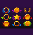 coloured templates for awards creating icons vector image vector image