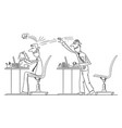 comic cartoon office worker or businessman vector image