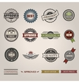 commercial stamps set in vintage style vector image vector image