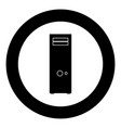 computer case or system unit icon black color in vector image vector image