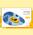 concept taxi cab riding for client vector image