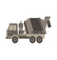 concrete mixer icon truck with special equipment vector image