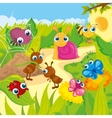 Cute Small Animals Meadows vector image vector image