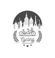 cycling logotype vector image vector image