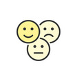 feedback emoticons positive negative and vector image