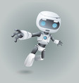 flying robot technology science fiction future 3d vector image vector image