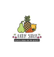 fruits and vegetables vegetarian banner farm shop vector image