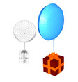 gift and balloon vector image vector image