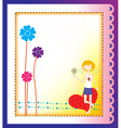greeting card vector image vector image