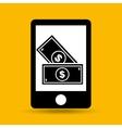 hand save money dollar icon vector image vector image