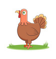 happy cartoon turkey vector image vector image
