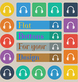 headphones icon sign Set of twenty colored flat vector image