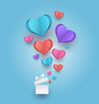 hearts abstract paper vector image