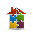 house consisting of pieces of the puzzle vector image vector image