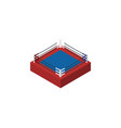 isolated boxing isometric fighting element vector image vector image