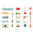 istanbul turkey culture set medieval fortress vector image