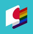 japan lgbt flag japanese symbol tolerant gay vector image vector image