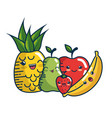 kawaii fruits icon vector image vector image