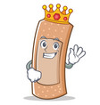 king band aid character cartoon vector image vector image