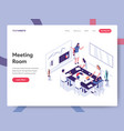 landing page template meeting room concept vector image vector image