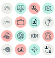 management icons set collection of online vector image