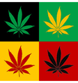 Marijuana-Cannabis-background vector image vector image