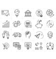 Market shop business line icon art Flat vector image
