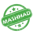 Mashhad green stamp vector image vector image