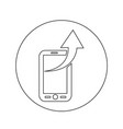 mobile phone icon design vector image