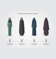 muslim female headgear set vector image