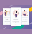 onboarding screens user interface kit for mobile vector image vector image