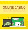Online casino banner vector image vector image