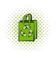 Paper bag with recycle symbol vector image vector image