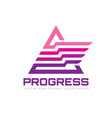 progress - business logo template abstract vector image vector image