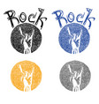 rock culture symbol sketch vector image vector image
