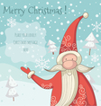 Santa Clause greeting card vector image