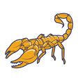 scorpion logo vector image