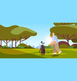 senior man playing golf on green golf course aged vector image