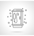 Shower icon flat line design icon vector image vector image